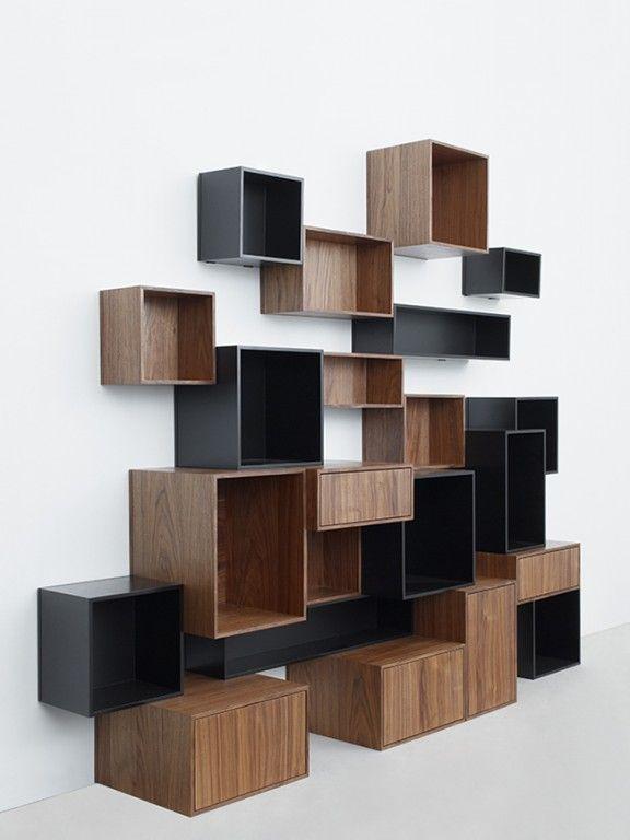 caisson bibliotheque modulable