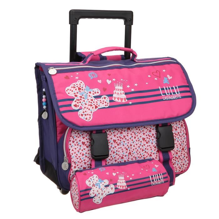 cartable a roulette fille