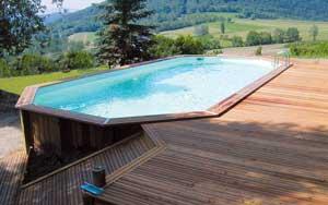 piscine bois semi enterrée