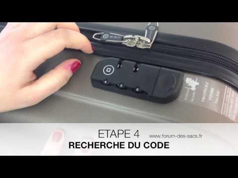 code valise delsey perdu