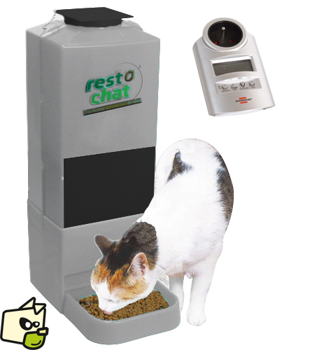 distributeur nourriture chat automatique