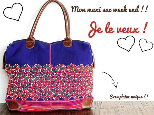 sac week end fille